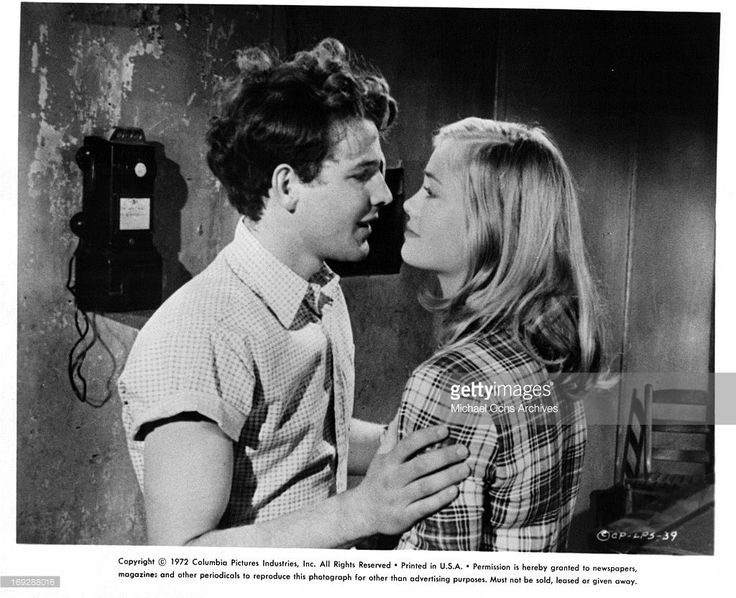 Timothy Bottoms is charmed by Cybill Shepherd in a scene from the film 'The Last Picture Show', 1971.