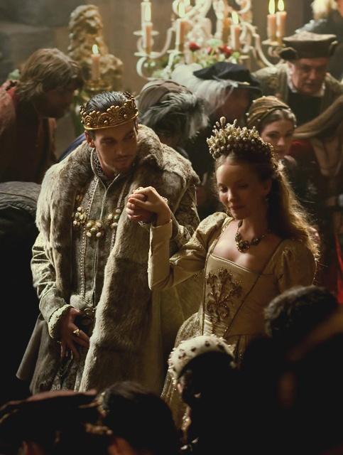 Henry VIII (Jonathan Rhys Meyers) & Catherine Howard (Tamzin Merchant) 'The Tudors' 2007-10. Costumes designed by Joan Bergin.