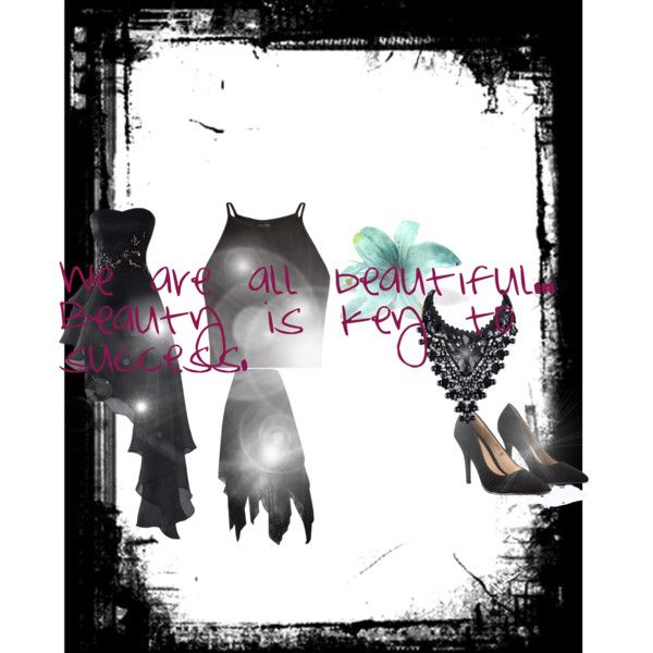 Black Beauty by the-aria-soto on Polyvore featuring Lipsy
