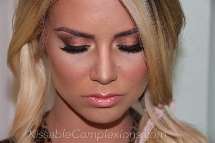 Rose gold eyeshadow tutorial!! Wedding eye makeup ...