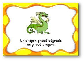 "Virelangue ""Un dragon gradé"""
