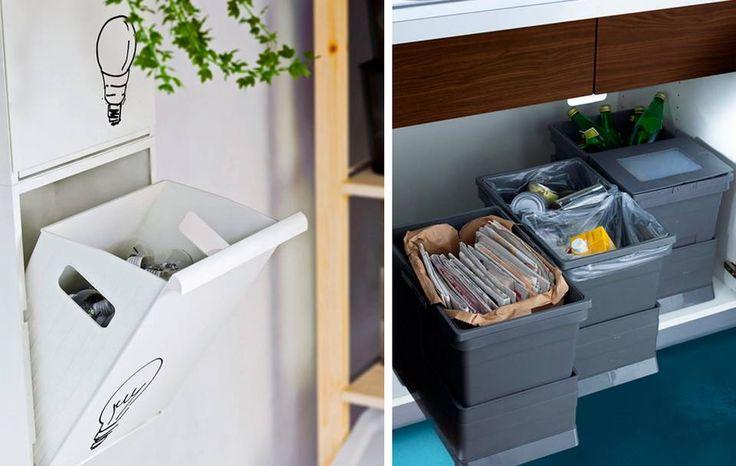HENG OPP OG TREKK UT: Vegghengte hyller frigir gulvplass på kjøkkenet, og kan være lurt i små leiligheter. Beholdere under benken kan trekkes inn og ut ved behov.