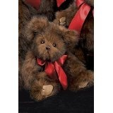 """Baby Heartford Bearington Valentine's Day Stuffed Animal Gift 10.5"""" Traditional Brown Teddy Bear with Red Satin Bow By Bearington Collection (Toy)  #valentineday www.giftsforbelovedones.com"""