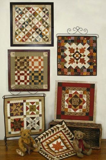 "Quilt Squares #2 is a series of small quilts. Frame the quilts using 12""x 12"" readymade frames. Designed by Lori Smith of From My Heart to Your Hands"