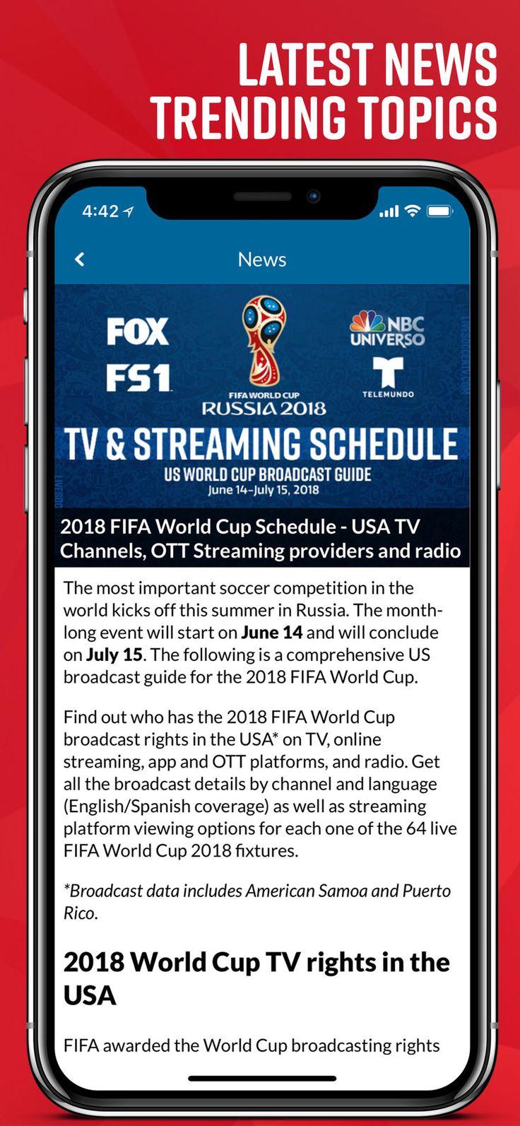 Live Soccer TV Scores Soccer tv, Live soccer, Streaming tv