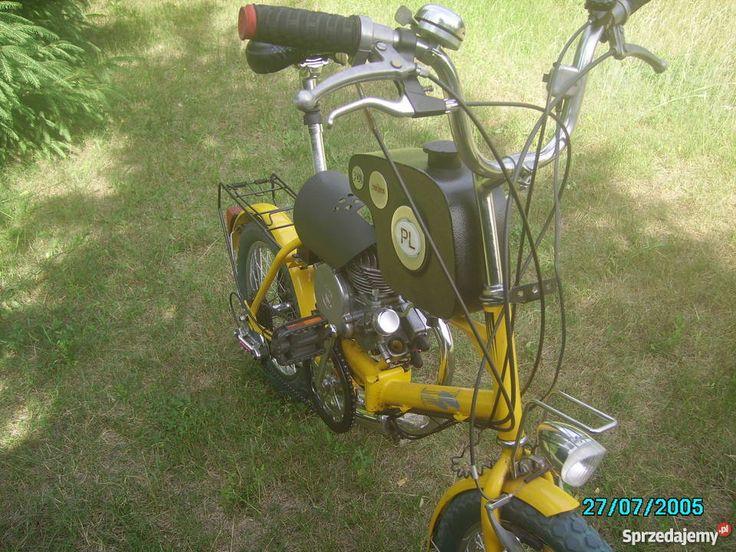 Orginalny Skladak Skladany Rower Z Silnikiem Spalinowym St Vehicles Moped Motorcycle