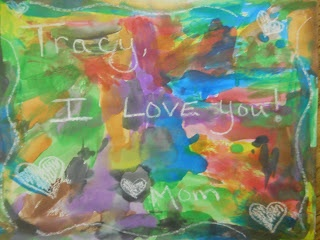 Parent Orientation: Parent's leave a message written in white crayon. The kids paint over the page to reveal the message on the first day of school.