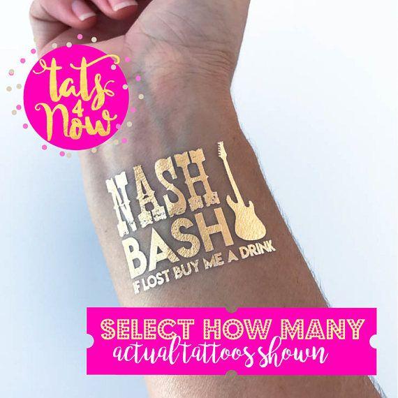 Nashville bachelorette party // gold tattoos // nash bash //