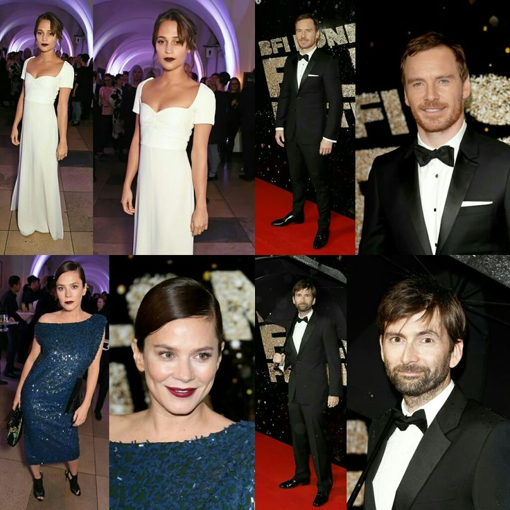 #AliciaVikander (in #LouisVuitton), #MichaelFassbender (Alicia's boyfriend), #AnnaFriel (in ChristianDior) and #DavidTennant at the #BFILondonFilmFestival awards last night in London. • • • • • • • • • • • • • • • • • • • • • • • • • • • • • •  #AliciaVikander (de #LouisVuitton), #MichaelFassbender (namorado da Alicia), #AnnaFriel (de #ChristianDior) e #DavidTennant na premiação do #BFILondonFilmFestival ontem à noite em Londres.