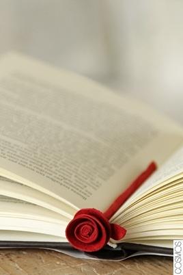 punt de llibre rosa / punto de libro rosa / book mark rose