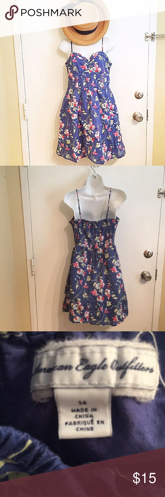 American Eagle Floral Dress with Pockets American Eagle Outfitters Floral dress with pockets. Zips up the back. Sweetheart neckline. Size 14. #aeo #americaneagle #americaneagleoutfitters #floral #dress #pockets #sweetheart #punkydoodle  No modeling Smoke free home I do discount bundles American Eagle Outfitters Dresses