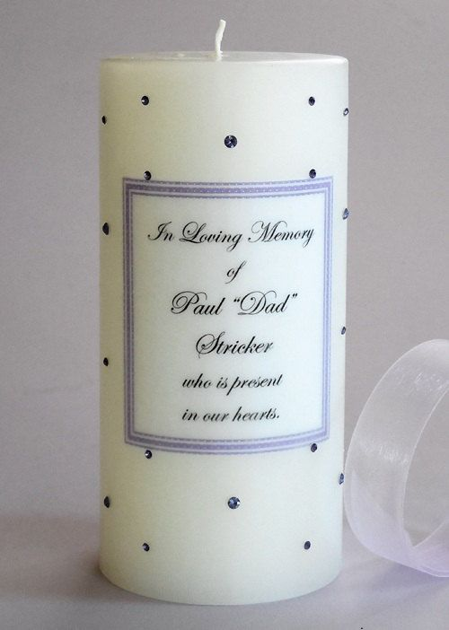 Swarovski Crystal Memorial Candles by CandleMemories on Etsy, $36.00