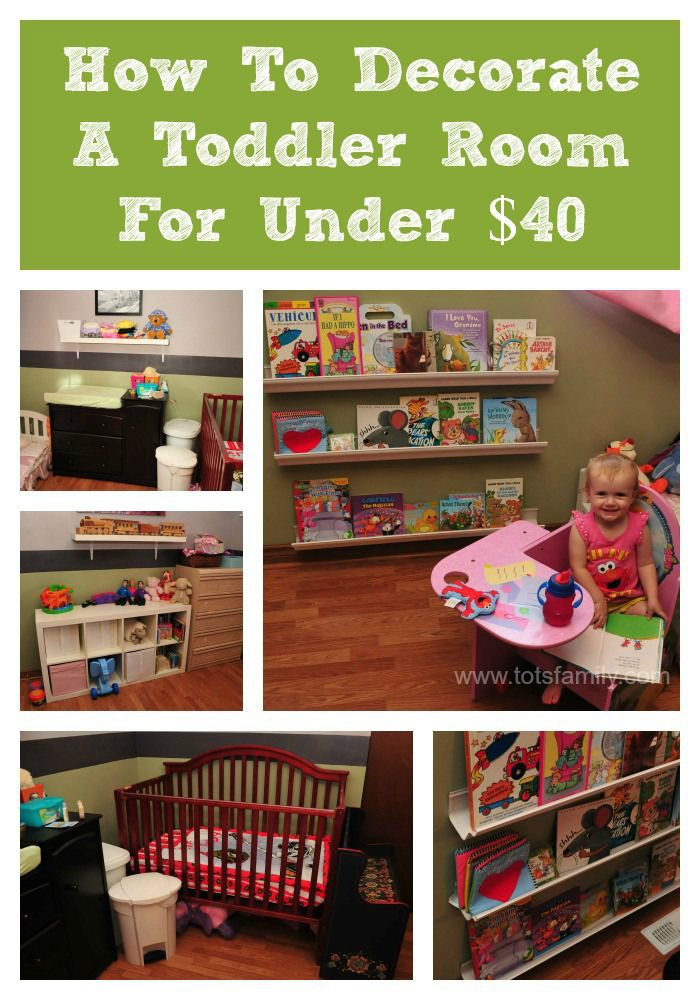 How To Decorate A Toddlers Room For Under $40. These DIY ideas are not only cheap, but also easy! Create a fun play space for your little prince or princess. No renovation experience needed.