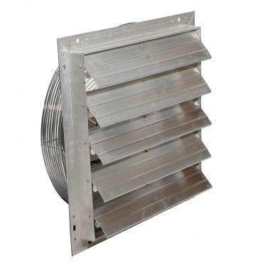 """24"""" DURAFAN® Select Speed Shutter Fan - For Greenhouse Ventilation - 2 Speed - 5900/3575 CFM"""