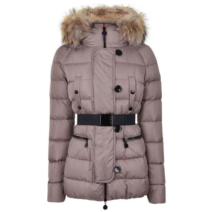 35be84599 get moncler bellco fur trim puffer coat plum up 43ec1 8f50f