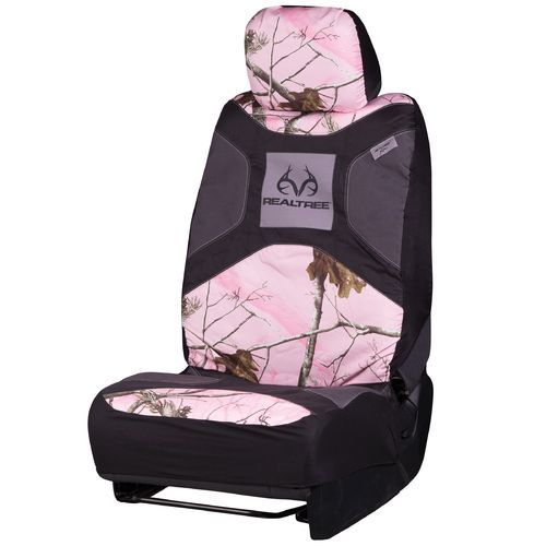 Realtree Low-Back 2.0 Pink Seat Cover from Academy
