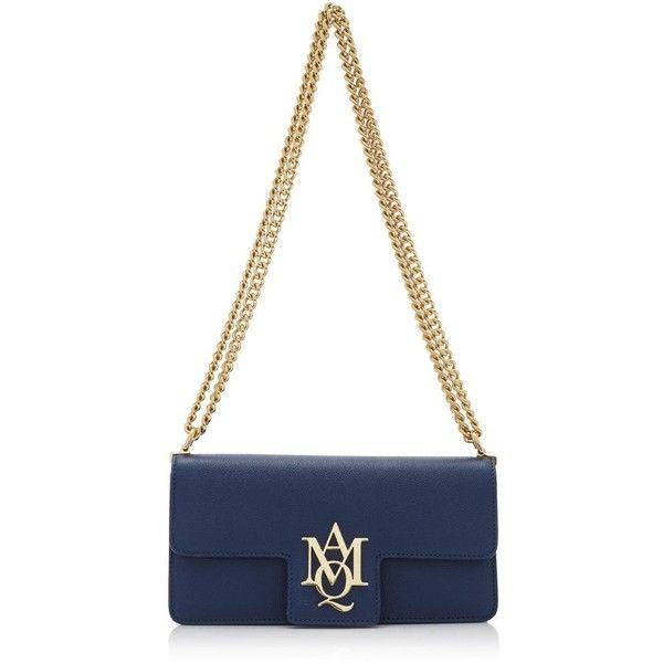 Alexander McQueen Insignia Clutch Satchel (€1.035) ❤ liked on Polyvore featuring bags, handbags, alexander mcqueen purse, alexander mcqueen bags, alexander mcqueen and alexander mcqueen handbags