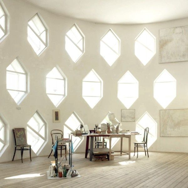 Stunning windows create a dramatic back drop to any space!