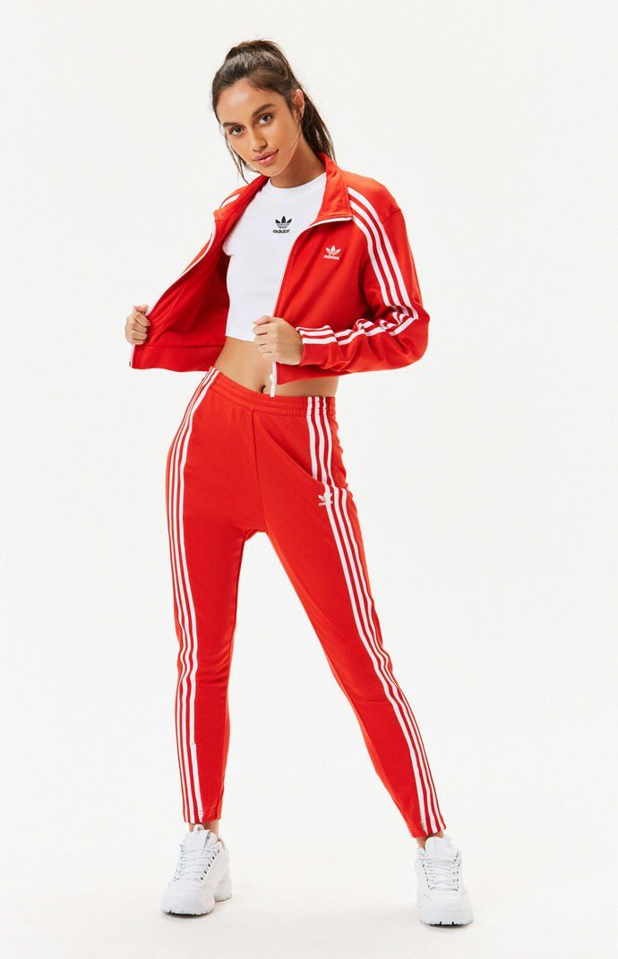Hedendaags adidas Cropped Track Jacket | PacSun (With images) | Red adidas XI-61