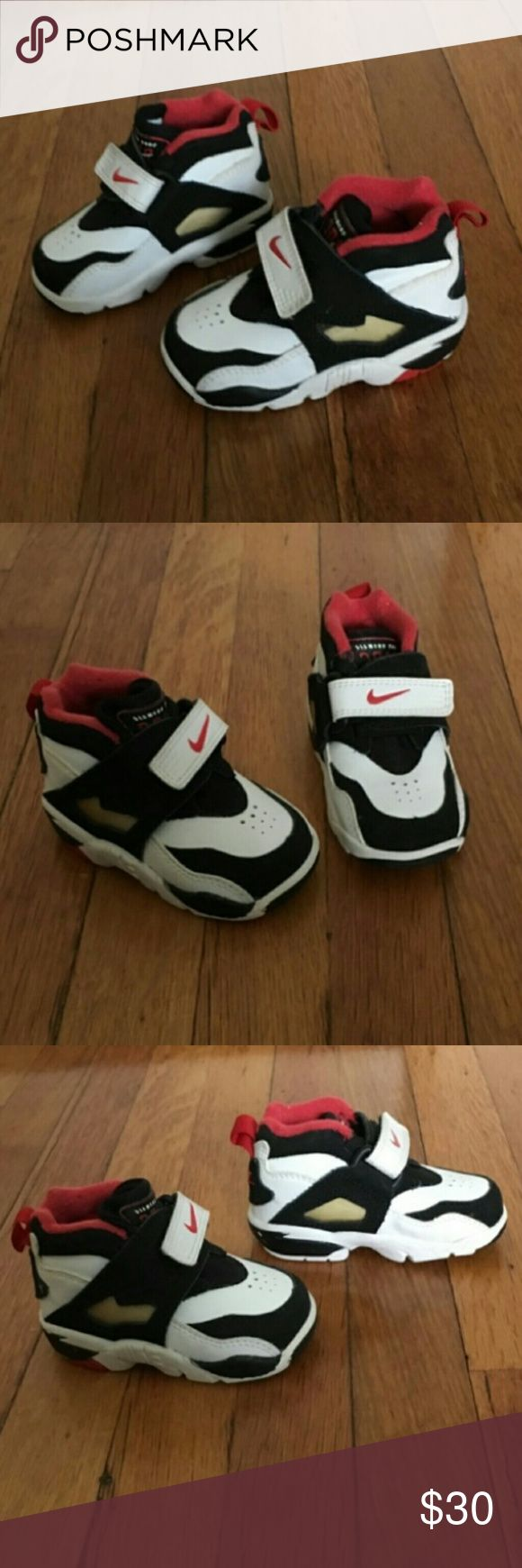 Nike Diamond Turf 2010 LeBron James Sneaker Shoes These baby/toddler shoes have never been worn outside and my son was such a fat baby they never fit him! The black on the back is not perfect do not know when that would have happened, photo above. My son destroyed the box. Velcro closure.  Super cute shoes and you can buy matching ones in adult size. I love matching shoes! Nike Shoes