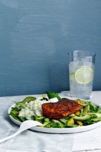 Salmon Tandoori with Cucumber Sauce