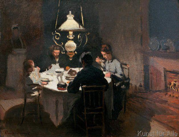 """""""Das Abendessen"""" von Claude Monet - 1868 /1869 (Städel Museum Frankfurt am Main 01.06.2015)"""