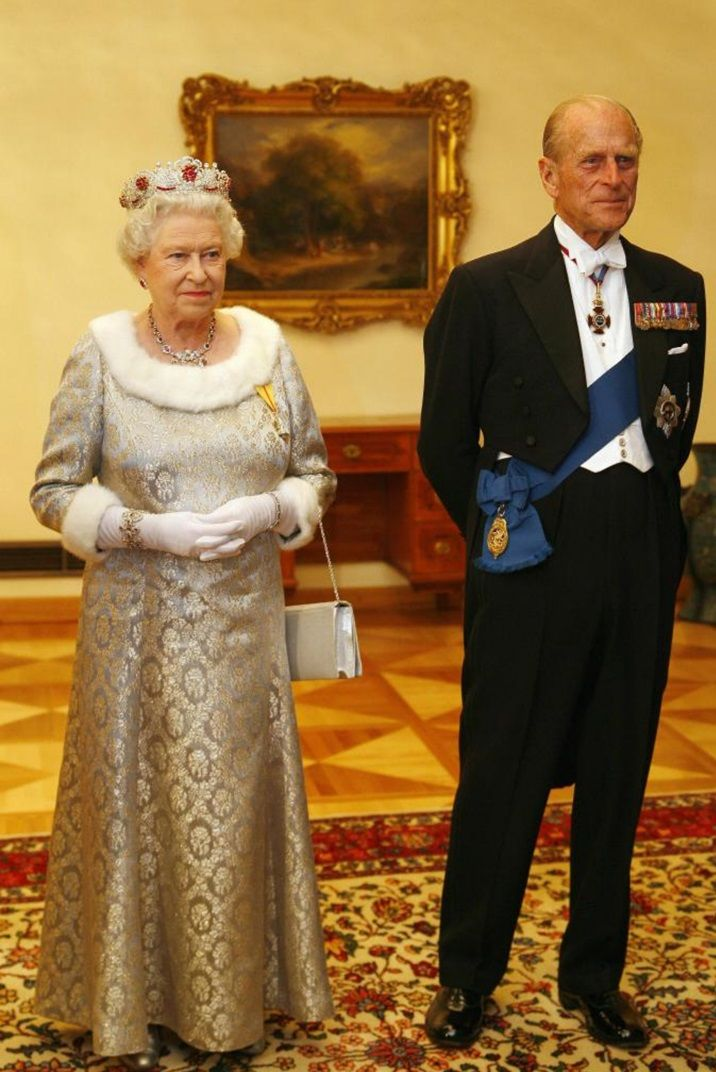 October 2008 HM Queen Elizabeth ll and Prince Philip are pictured before a dinner with Slovenia's President Danilo Turk at Brdo Castle