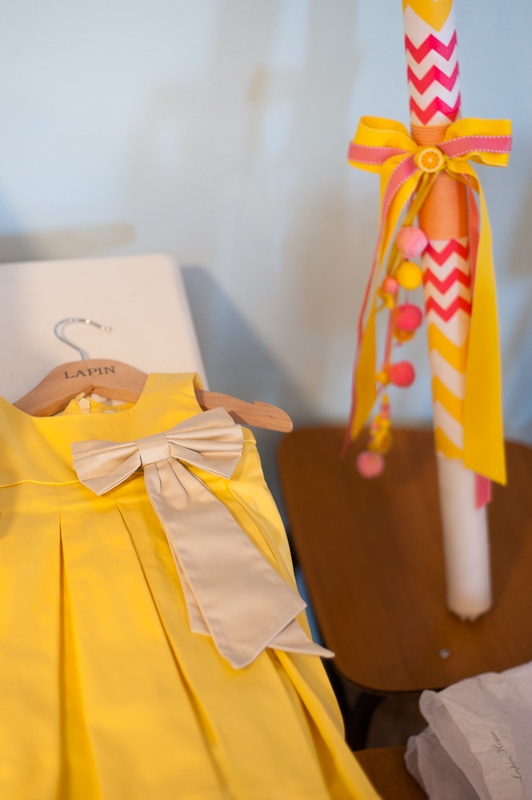 Juno's Naming Day // Photography by Panagiotis Baxevanis // Chevron fabric from ShuShu Style https://www.facebook.com/shushustyle?fref=ts // Moschino dress by Lapin House