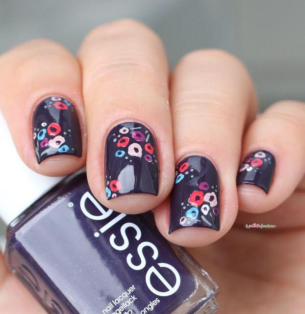 essie fall collection 2016 go go geisha kimono over eggplant violet flower nail…