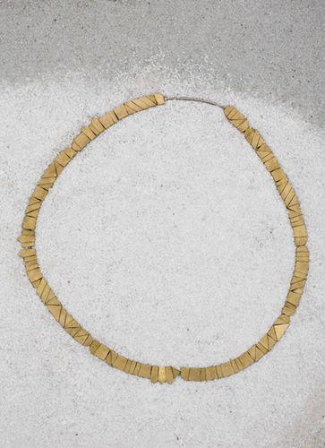 Hanna Sandin - SAMMA - Brass and white bronze necklace.