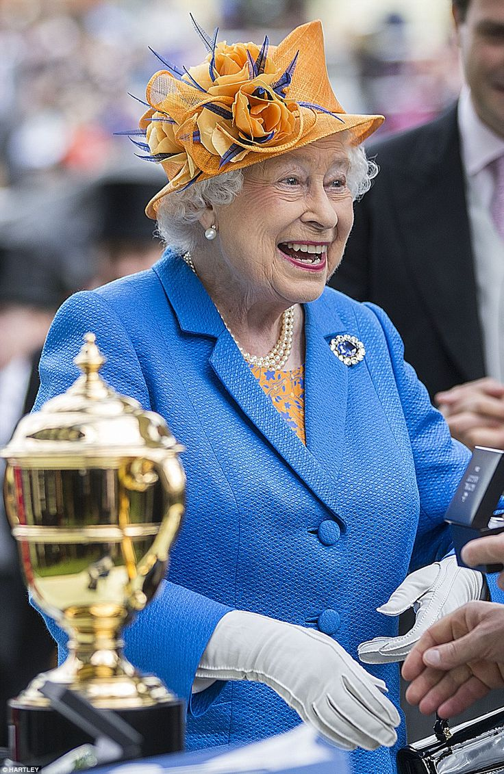 Later this afternoon the Queen beamed as she presented the Gold Cup in Honour of Her Majesty's birthday. - 16 June 2016.