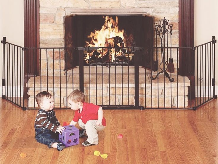 The fireplace is one of the most dangerous parts of the house for a mobile toddler. Here's how to properly baby-proof it to keep them safe.