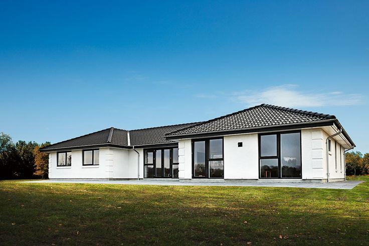 En af de mange arkitekturer man kan få ved et HusCompagniet hus.