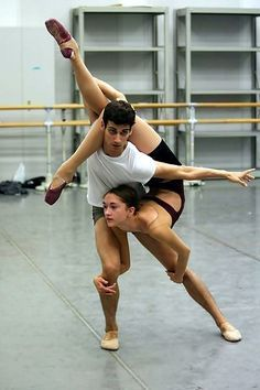 Ballet pas de deux. It's a little awkward, but it could work.