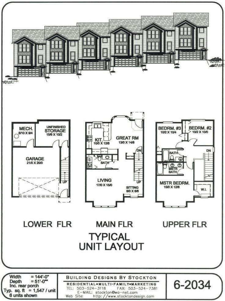Building designs by stockton plan 6 2034 floorplans for Interior designs xword