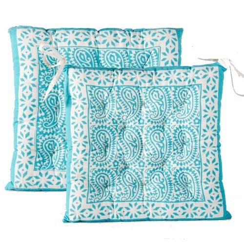 Seat Pad 'Turquoise' | Cushions | Bliss Garden and Giftware online store