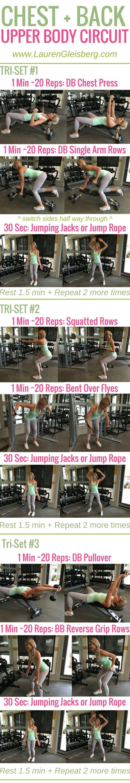 Week 2 Day 5 | Gym Version | Chest + Back Upper Body Circuit | #LGFitmas Lauren Gleisberg