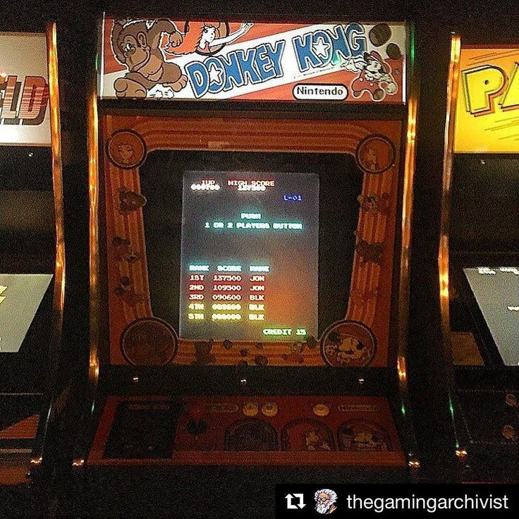 """#Repost @thegamingarchivist with @repostapp   Donkey Kong (1981) Developer- Nintendo Genre - Platformer  Astounding  Donkey Kong is one of the earliest iterations of the platform genre created by the gaming wizard himself Shigeru Miyamoto. This game helped turn Nintendo's fortunes in North America and quickly became one of the most applauded arcade games of it's time. The protagonist of the game """"Jumpman"""" is also the first appearance of Nintendo mascot Super Mario...  More to come about the…"""