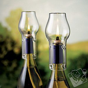 Wine Bottle Oil Lamp Kit at Wine Enthusiast - $19.99. This would