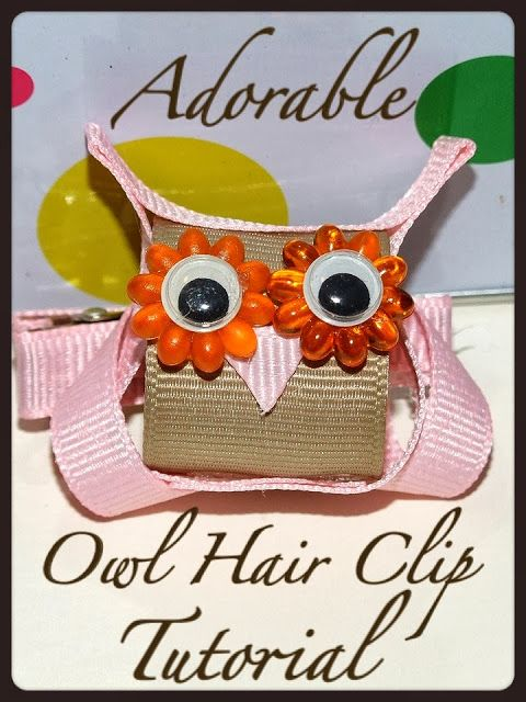 DIY Owl Hair Clip - A Tutorial - this would make a great craft as a zipper pull or broach to pin on back pack