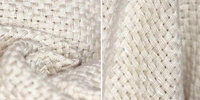 3 Eco-Friendly Plants that May Give Cotton Serious Competition; C.EcoWatch;Above photo shows thick basket weave banana fabric can be used for tailored jackets and skirts, as well as cushions, throws and blankets. Photo Credit: Offset Warehouse