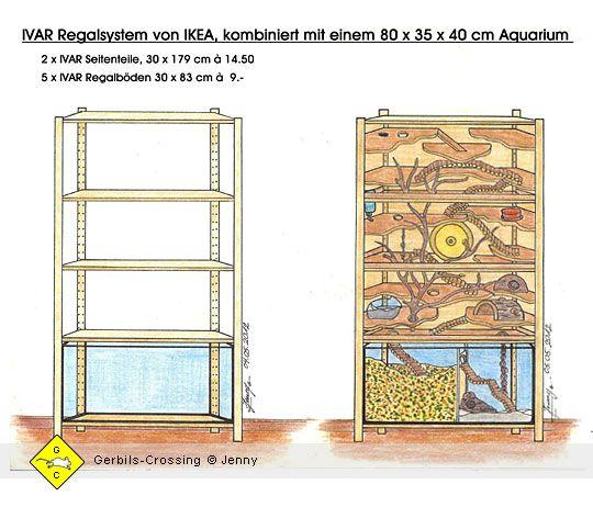 Nagerheim Terrarium Fur Rennmause Umgebautes Regal Bauanleitungen Einrichtung Kafig Und Zubehor Kleintierkafig Terrarium Hausratten