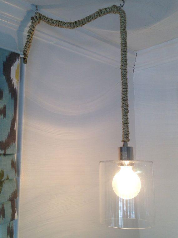 Nautical Rope Pendant Light PLUG IN By BohoCoastalDesign On Etsy, $155.00