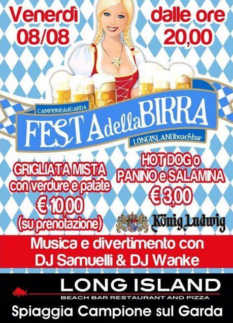Festa della Birra in spiaggia a Campione del Garda @gardaconcierge