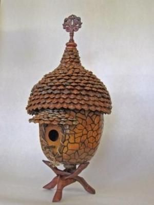 BIRDHOUSE GOURD by dorothea