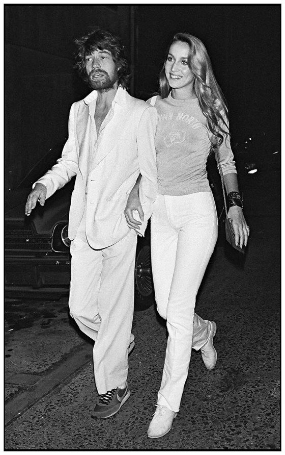 Mick Jagger and Jerry Hall in Paris.  1979 (Photo by Bertrand Rindoff Petroff:Getty Images)