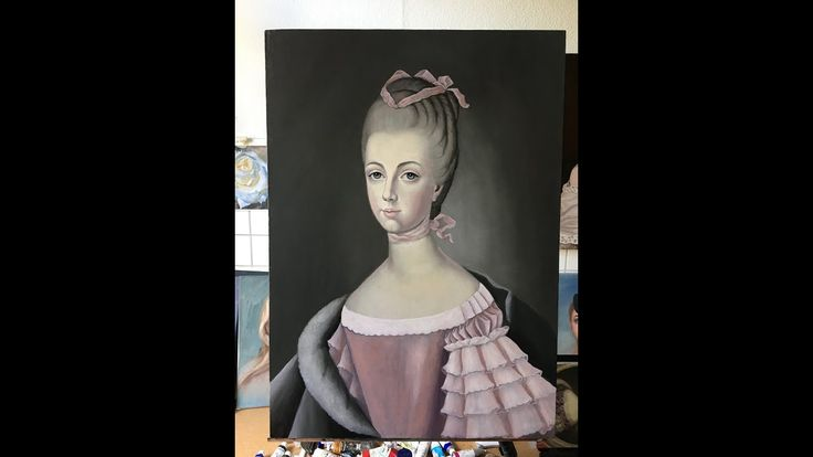 Classical Painting Technique / Painting with oil /  Color Layer / Portra...