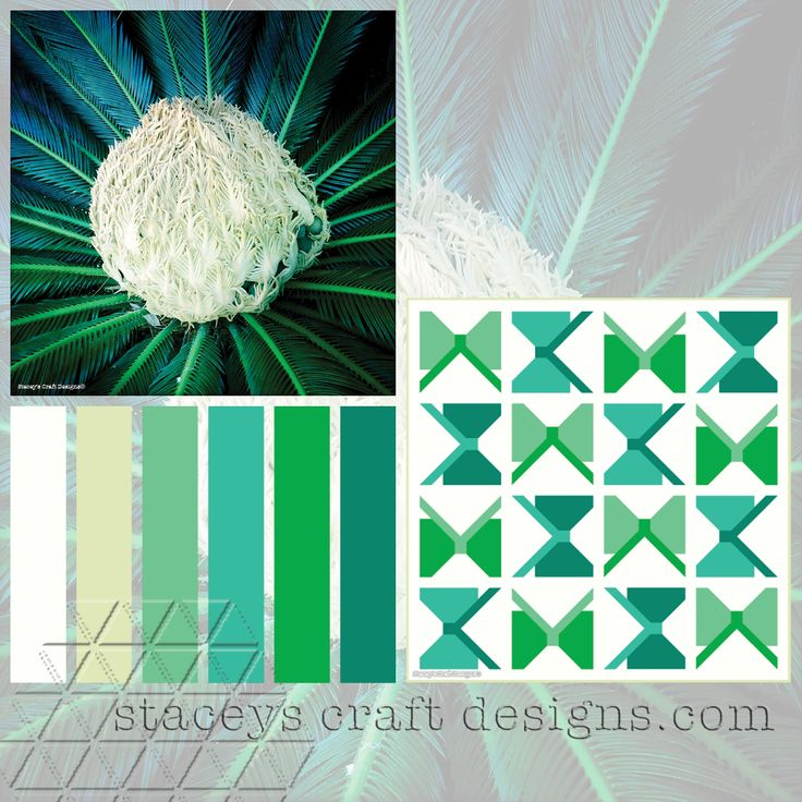 Colour Palette Sago Palm Flower by Stacey's Craft Designs