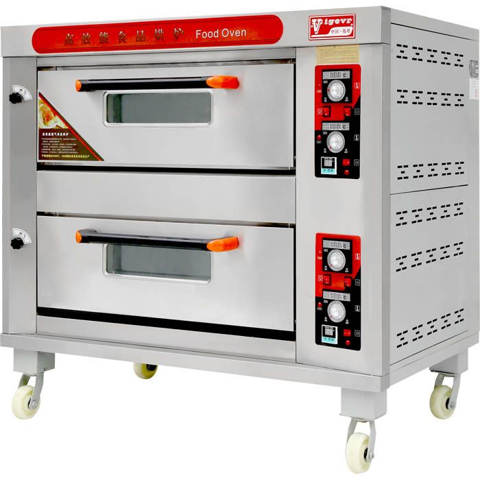 Price Of Bakery Machinery Industrial Bread Baking Double Deck Gas Oven#price of bakery machinery#Machinery#machine#bakery machine