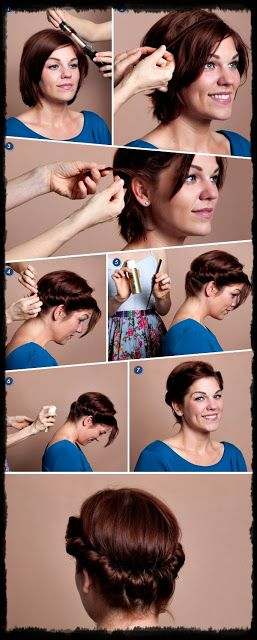 Hairstyles 2013 |Hair Ideas |Updos: Top 9 Cute Easy Updos for Short hair- Simple hairstyles